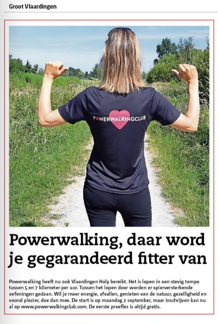 Powerwalkingclub in het nieuws
